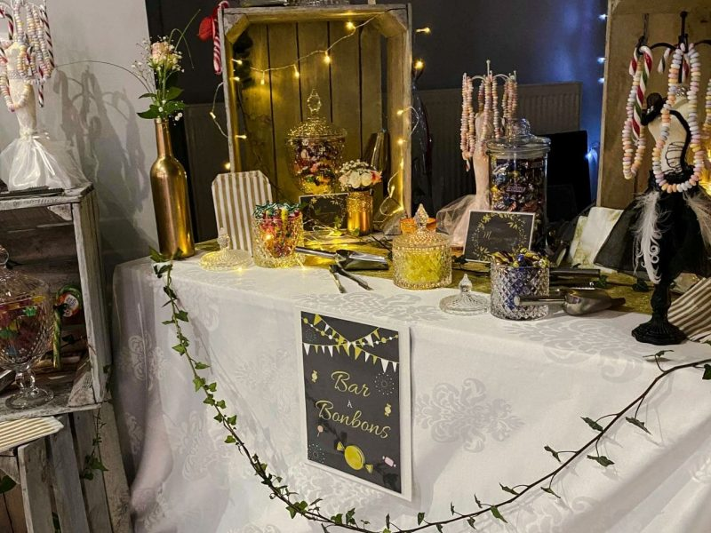 M & J-Noces d'or-candy bar 1