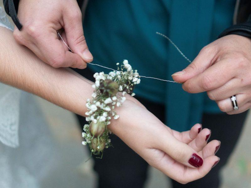 inspiration mariage bracelet fleur