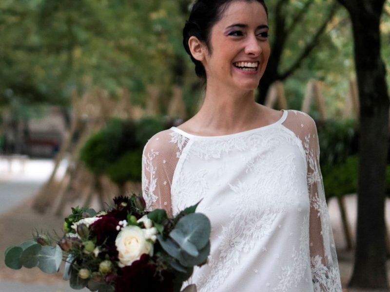 inspiration mariage mariée et bouquet de fleur
