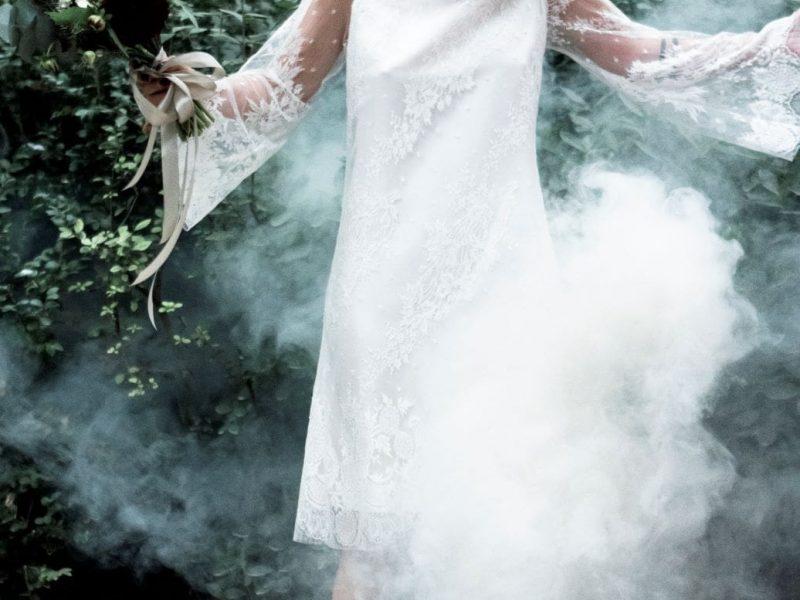 inspiration mariage mariée fumigène